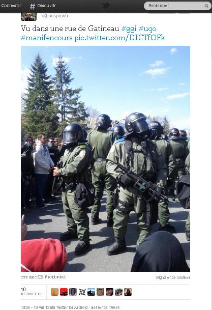 L'État policier à l'oeuvre