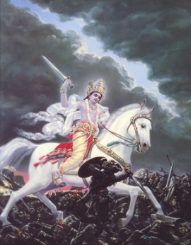 Kalki, dernier avatar de Vishnu, terminera le temps