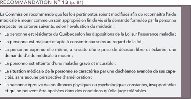 recommandation 13